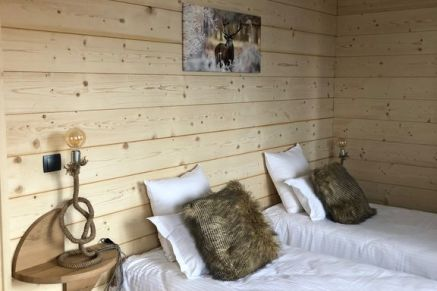 Chalet Le Hibou, twin bedroom