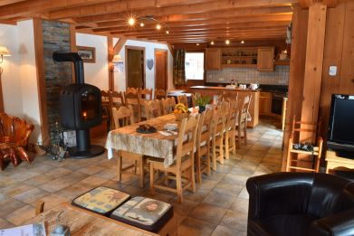 The Lounge / dining area in Chalet Chery des Meuniers