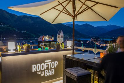 A view from the roof top bar in Hotel Heitzmann
