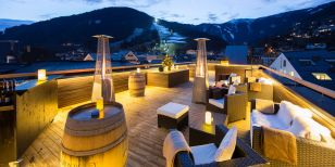 Rooftop Bar in Hotel Heitzmann in Zell am See Austria