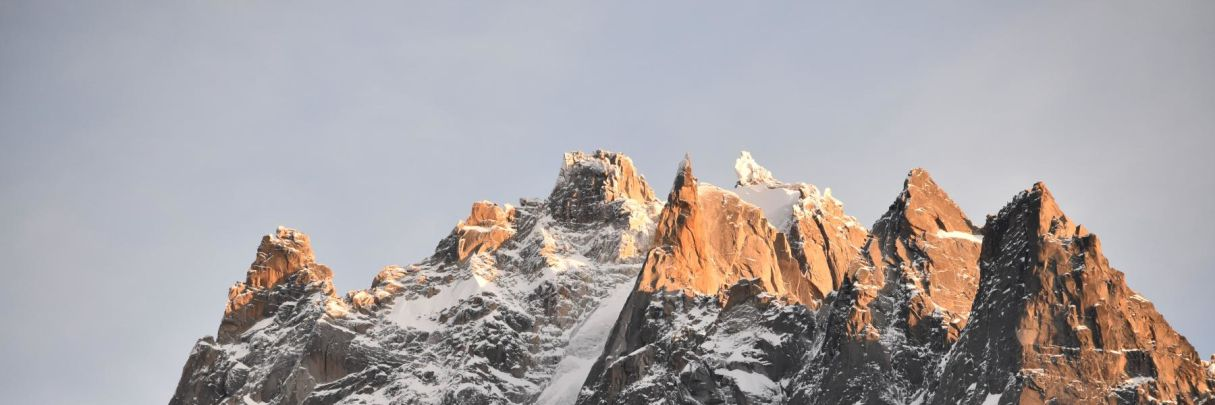 The amazing sights of the peaks of Chamonix