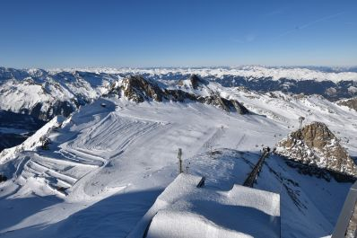 A view of the whole of Kaprun from the top of Kitzsteinhorn