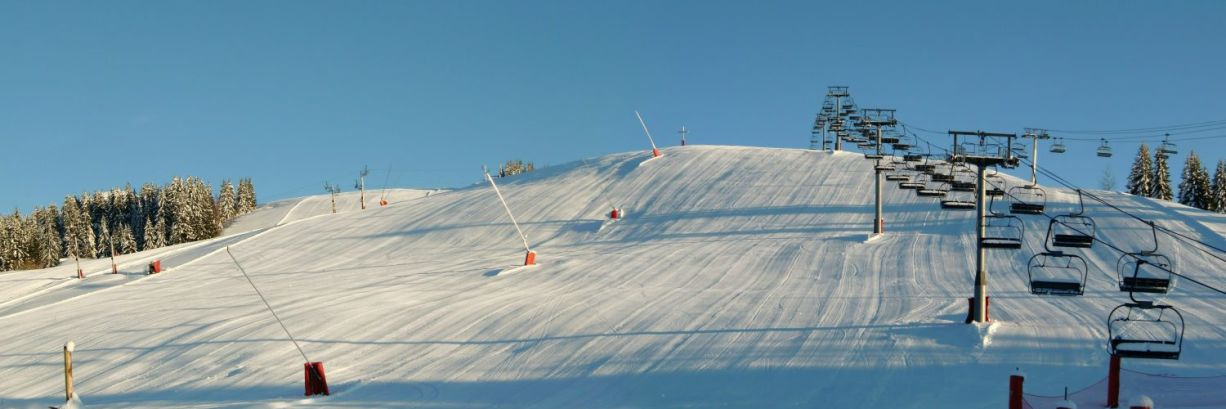 The Chavannes ski slope in Les Gets, a great skiing location
