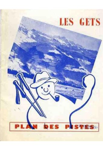Snowman cartoon poster of Les Gets, France