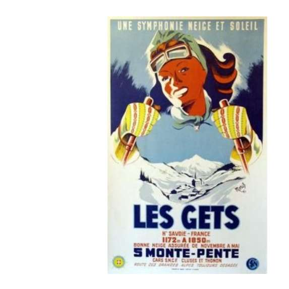 Old Poster, Les Gets Skiing