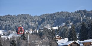 Scene from Les Gets ski resort in France