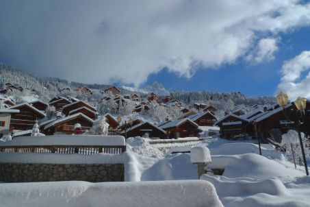 Meribel chalets covered in snow