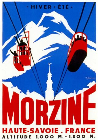 Old Poster, Morzine Cable Cars
