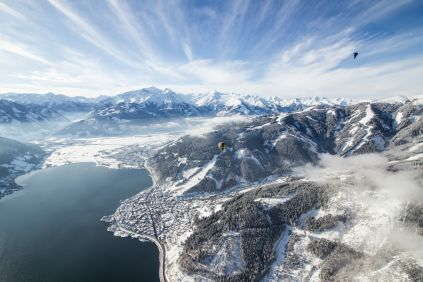 A birds-eye view of the Zell Am See and Kaprun ski resort