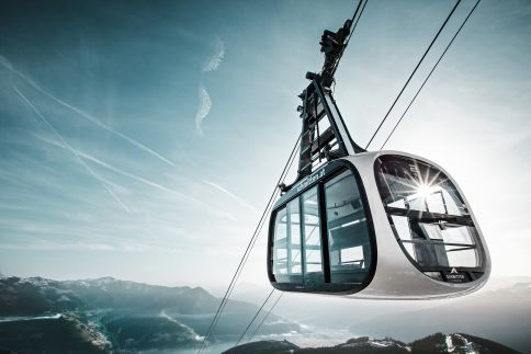 Zell Am See cable car which was designed by Porsche Design