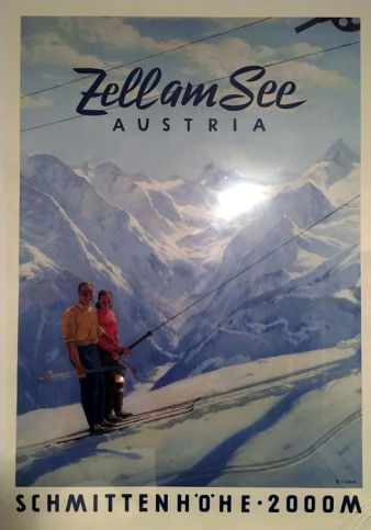 A poster of Zell Am See ski resort