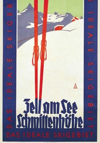 A minimalist style poster of Zell Am See Ski resort