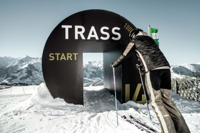 Trass black run starting point in Zell Am See