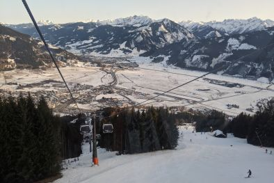 The Valley floor in Zell Am See as seen from the AreitXpress lift